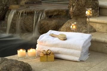 Obraz waterfall spa 1 - fototapety do salonu