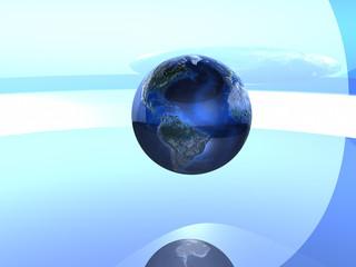globe in blue