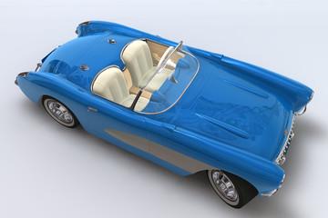 un 3d rend d'un chevrolet corvette 1957