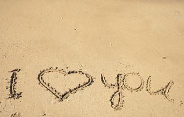 message on sand
