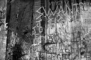 black and white graffito
