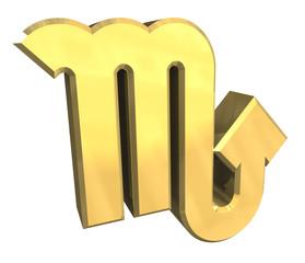 simbolo astrologico dello scorpione in oro