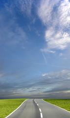 blue sky road