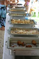 outdoor food buffet