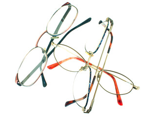 glasses heap - on white