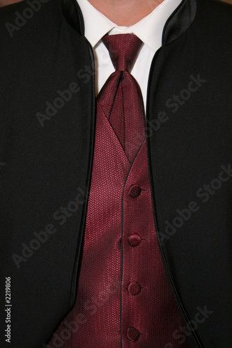 maroon shirt with tie
