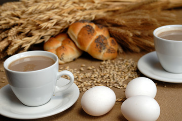 eggs with coffe