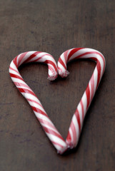 valentines - candy cane heart