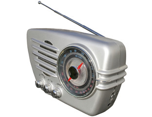 sleek retro radio