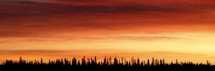 couleurs nordiques - coucher de soleil