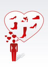 woman love shoes