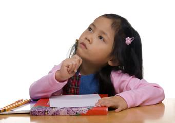 young girl writing 2