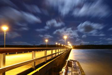 storm clouds: seaside night-scene, palanga (lithua