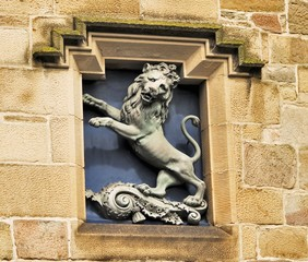 lion on building