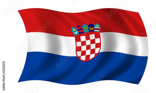 kroatien fahne croatia flag stockfotos und lizenzfreie. Black Bedroom Furniture Sets. Home Design Ideas