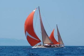 Spoed Foto op Canvas Zeilen navigazione al lasco