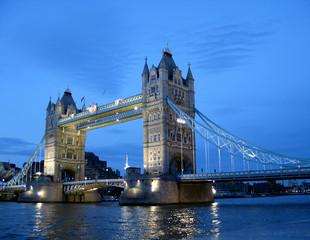 tower bridge, london. the gloaming view.
