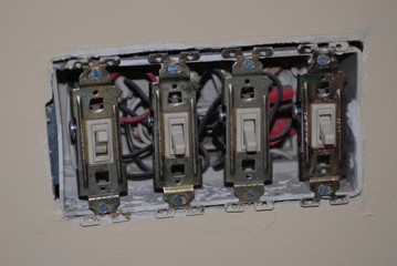 four gang electrical switch