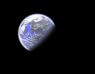 earthlike planet in space