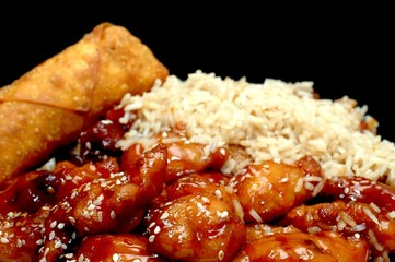 chinese food - sesame chicken
