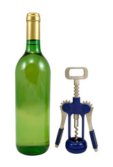 bottle and corkscrew