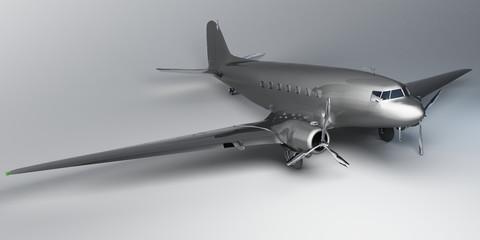 metal airplane 3