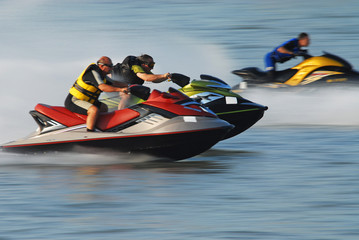 Acrylic Prints Water Motor sports jet-ski