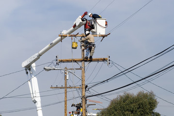 power pole worker
