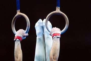 Photo sur Plexiglas Gymnastique gymnastics rings 004