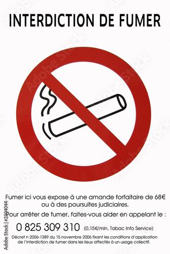 affiche interdiction fumer photo libre de droits sur la. Black Bedroom Furniture Sets. Home Design Ideas