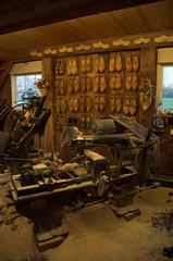 wooden shoe workshop