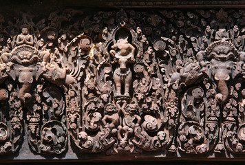 red stone carving