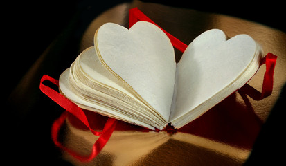 heart paper note