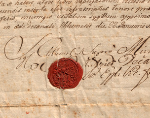 old letter with seal