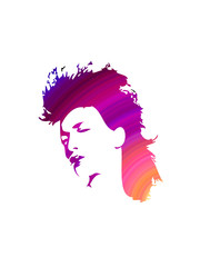 girl face abstract design artwork