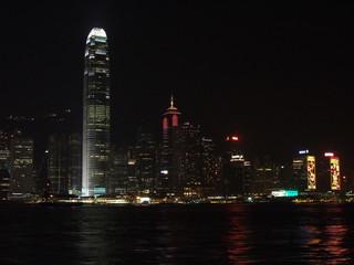 baie de hon-kong la nuit