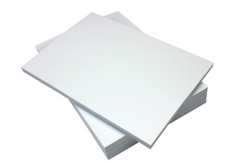 ream of blank paper