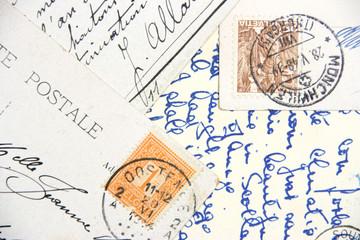 vintage hand-written post cards