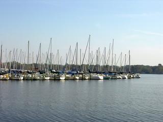 lake and boats