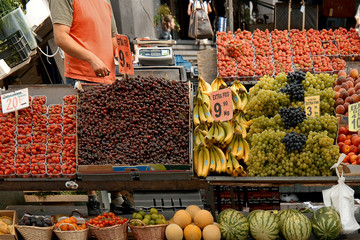 fruit market in stockholm, sweden