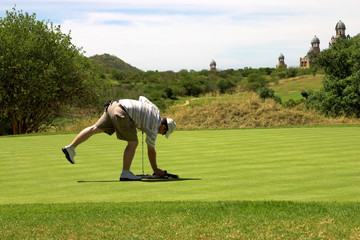 golfer on the green.