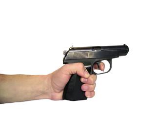 gun in a hand real