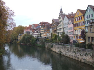 german canalside town