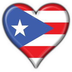 bottone cuore puerto rico button heart flag
