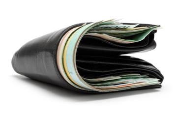 stuffed leather wallet