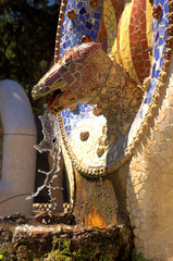 dragon in park guell