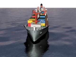 bateau cargo porte container frachter