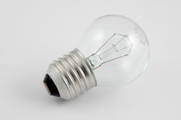 an electro-bulb is over white
