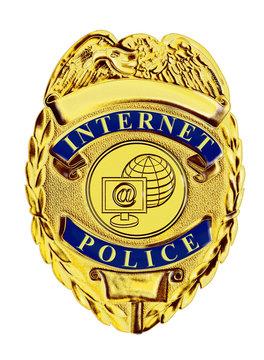 internet police badge gold