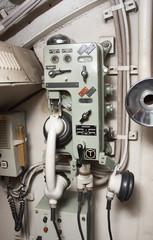 intercom of an old submarine